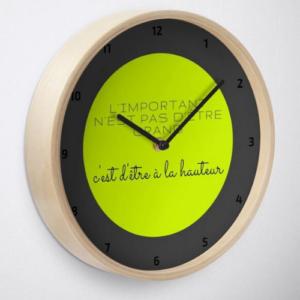 Horloge traditionnelle en bois - ronde