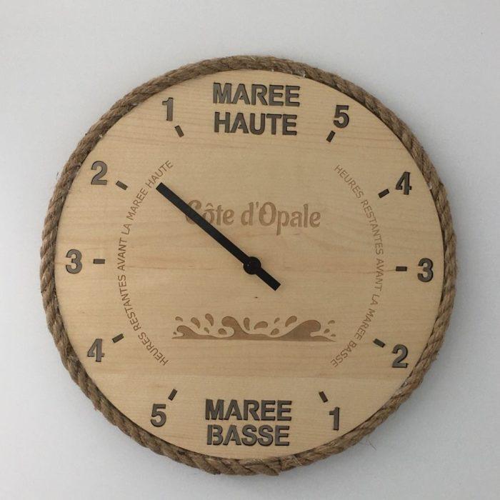 """Horloge des marées """"effet mer"""" sur mesure"""