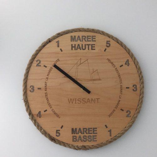 Horloge en érable - Wissant et son flobart