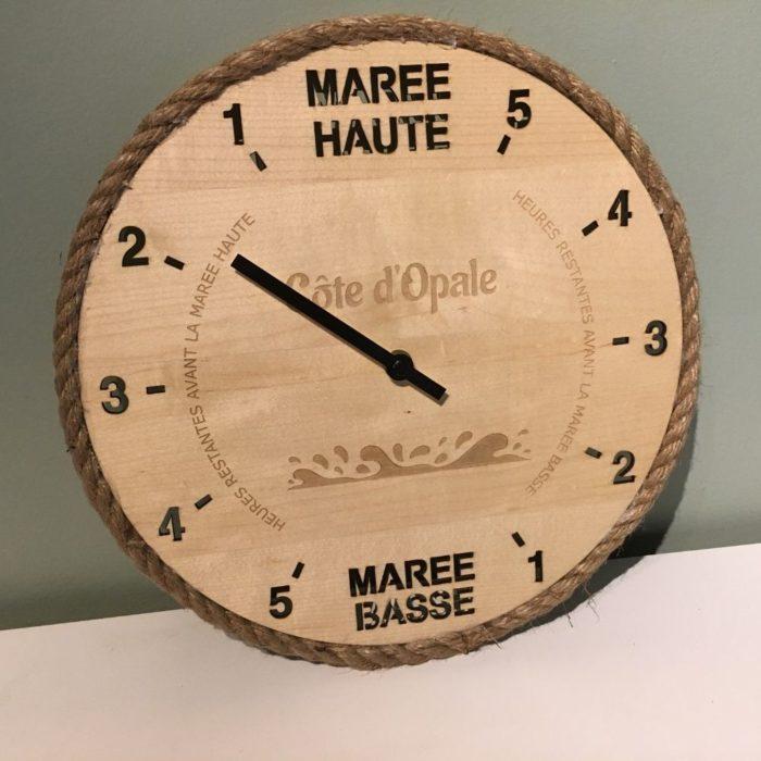 Horloge en érable - Côte d'Opale